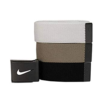 Nike Men's SG Silver-Tone Buckle Belt with Three Interchangeable Belt Straps