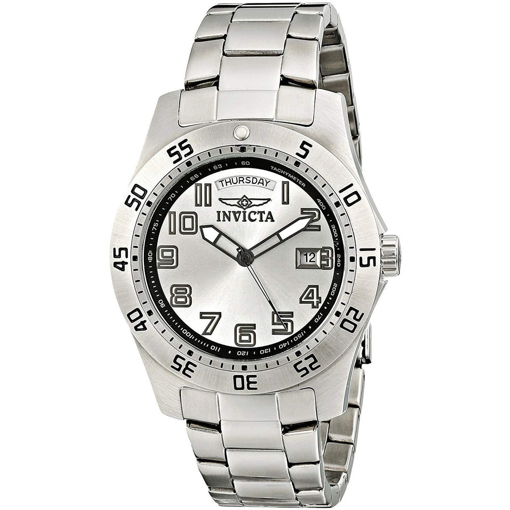 Invicta Men's 5249S Pro Diver Stainless Steel Silver Dial Watch - 3alababak