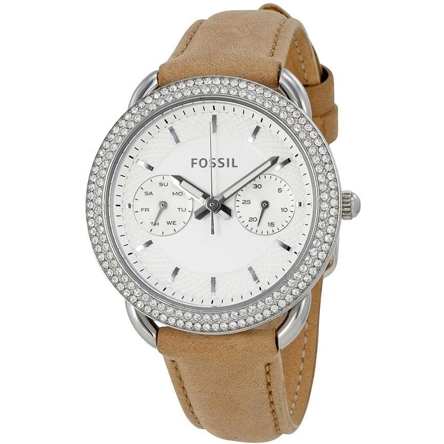Fossil Women's Quartz Stainless Steel and Leather Automatic Watch ES4053