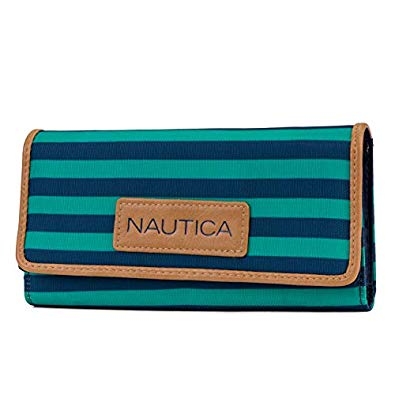 Nautica Women's Perfect Carry-All Money Manager RFID Blocking Wallet - Spectra Green
