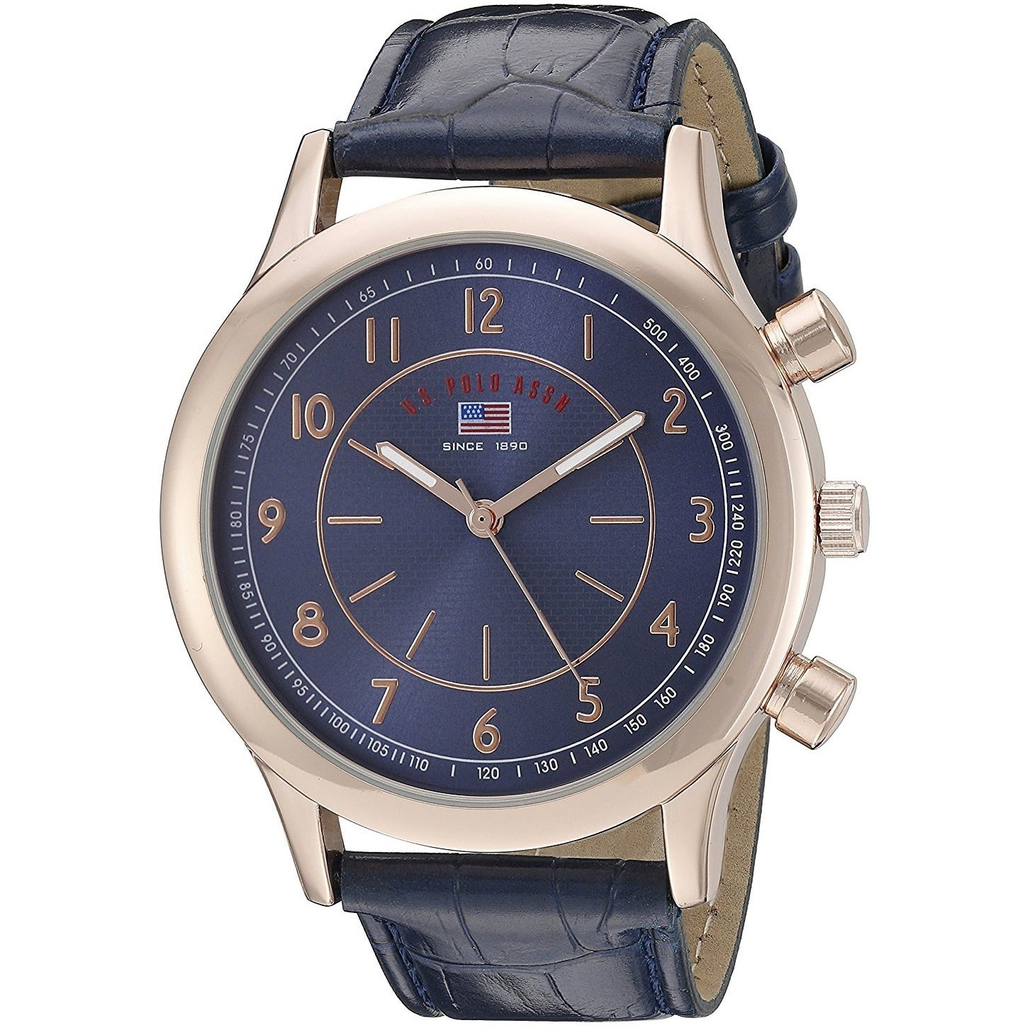 U.S. Polo Assn. Casual Watch For Men Analog Leather US5218