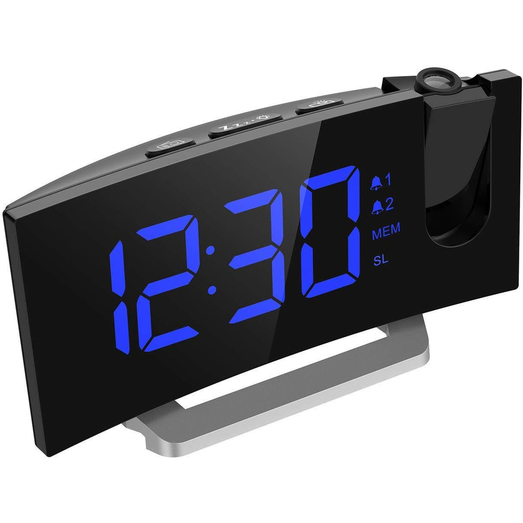 Mpow Projection Alarm Clock, 5'' LED Curved-Screen Projection Clock