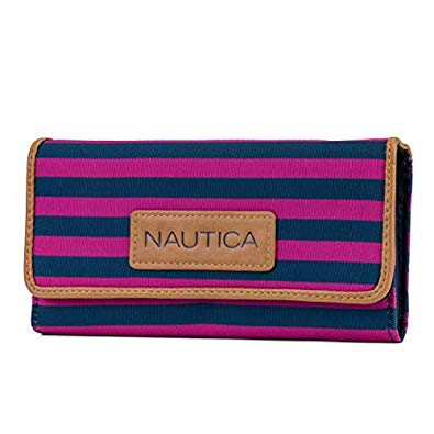 Nautica Women's Perfect Carry-All Money Manager RFID Blocking Wallet- Rose Violet