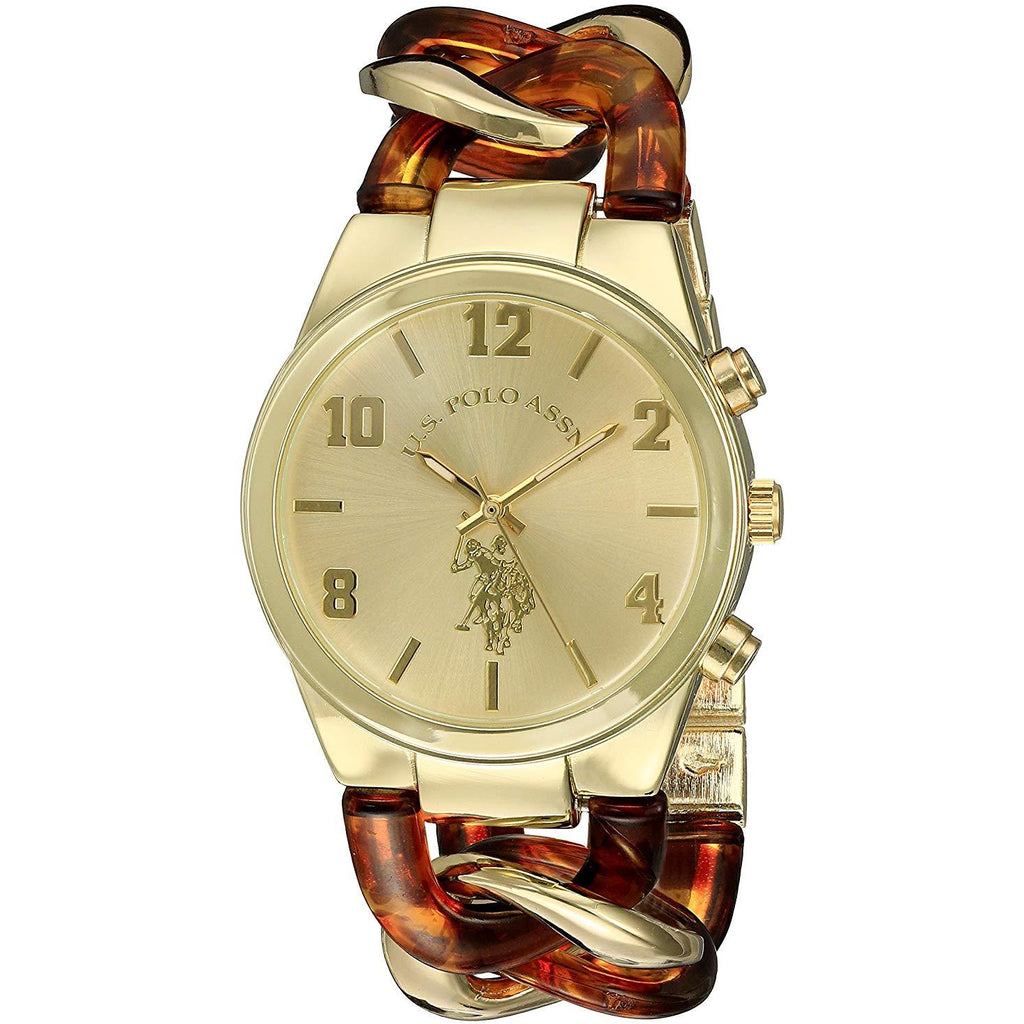 U.S. Polo Assn. Women's USC40174 Analog Display Analog Quartz Two Tone Watch - 3alababak