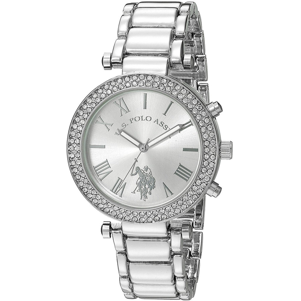 U.S. Polo Assn. Women's Quartz Silver-Toned Dress Watch USC40172 - 3alababak