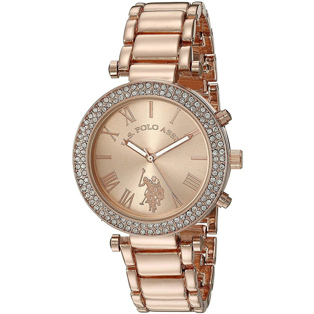 U.S. Polo Assn. Women's Quartz Rose Gold-Toned Dress Watch Model USC40170 - 3alababak