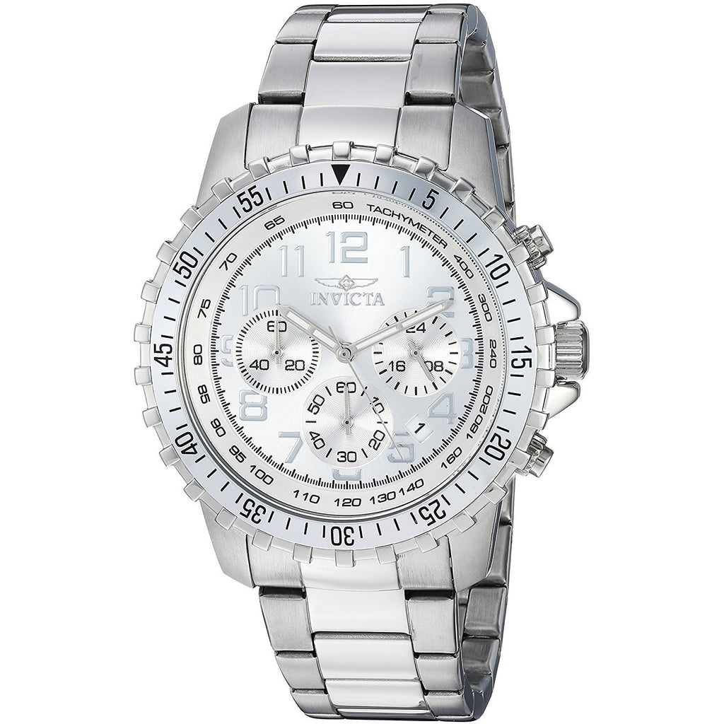 Invicta Men's 6620 II Collection  Chronograph Stainless Steel Silver Dial Watch - 3alababak
