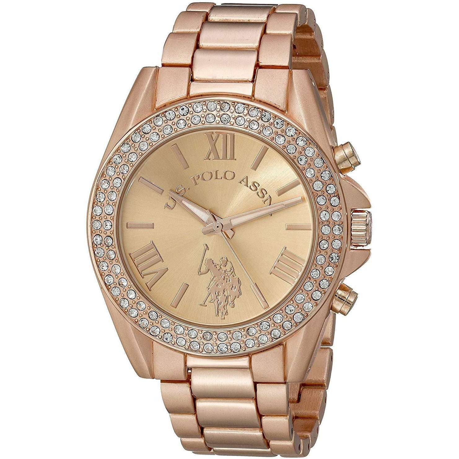 U.S. Polo Assn. Women's USC40037 Rose Gold-Tone Watch with Crystals