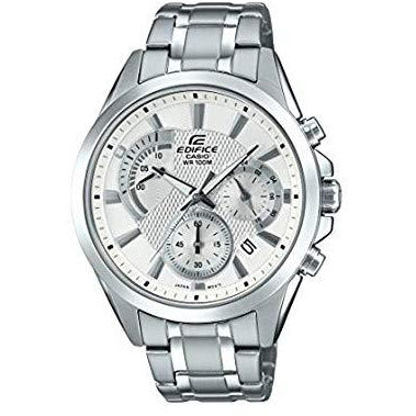 Casio Men's Edifice Silver Quartz Watch with Stainless-Steel Strap Model EFV-580D-7AVUDF