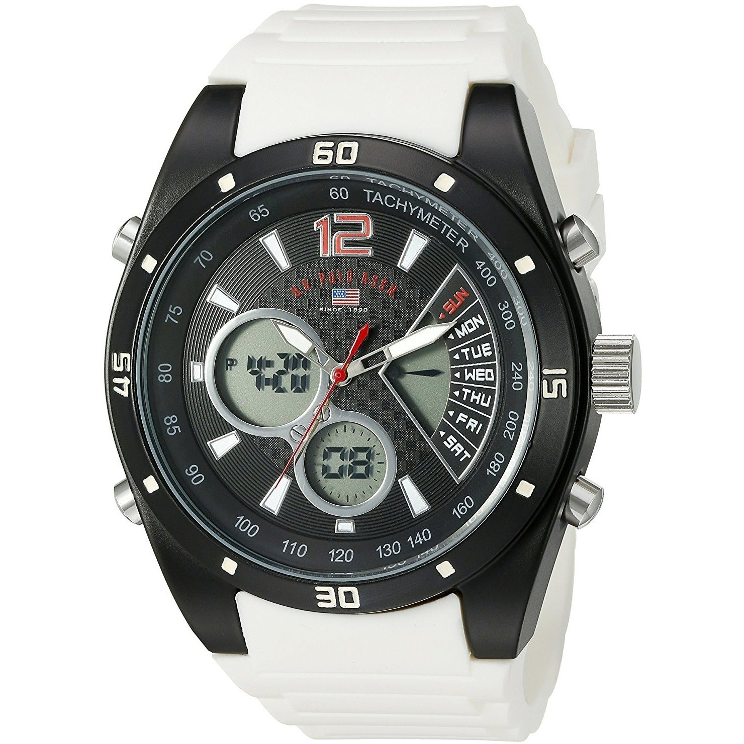 U.S. Polo Assn. Sport Men's US9539 Analog-Digital Display Analog Quartz White Watch