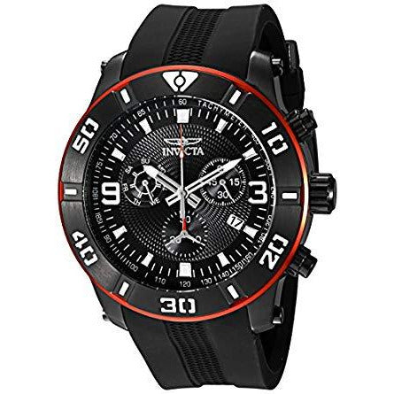 Invicta Men's 19825 Pro Diver Analog Display Swiss Quartz Black Watch