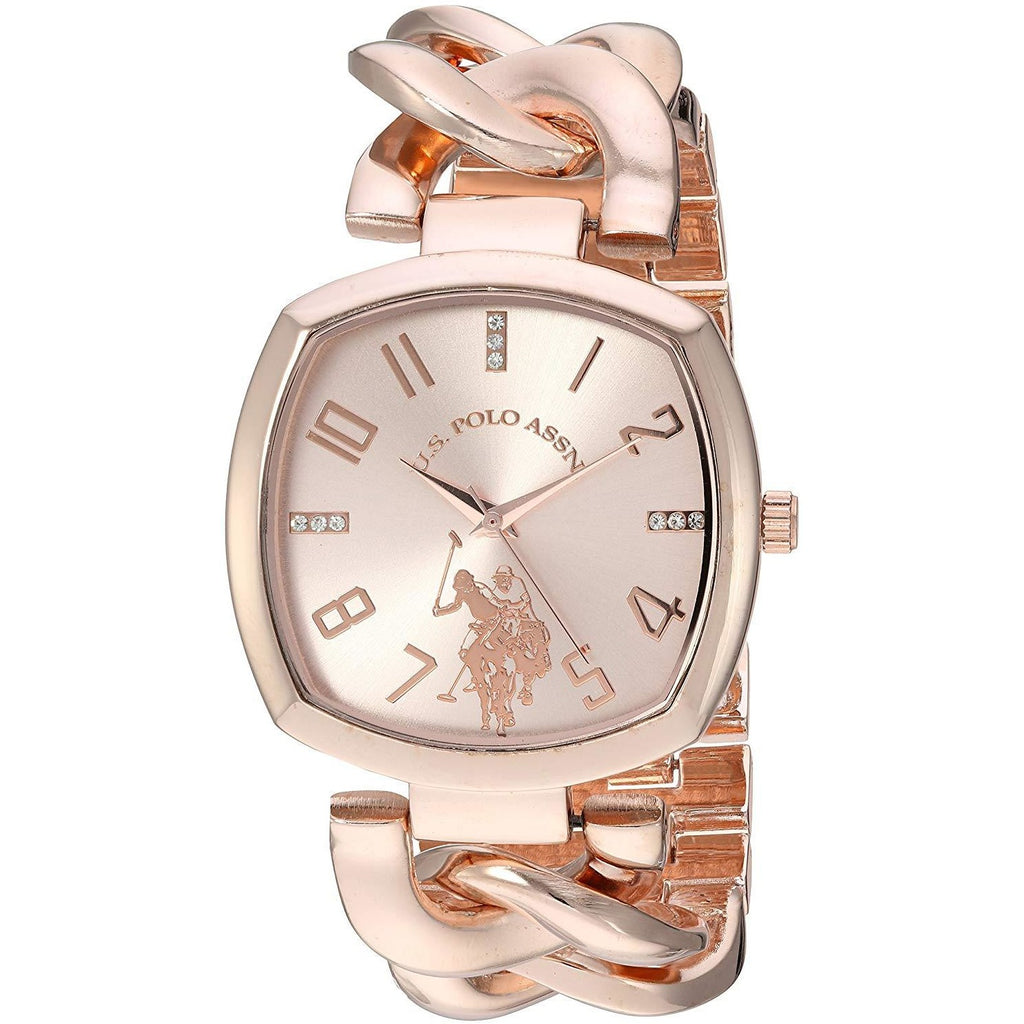 U.S. Polo Assn. Women's Quartz Metal and Alloy Casual Watch, Color Rose Gold-Toned Model USC40251AZ - 3alababak