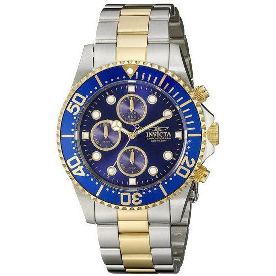 Invicta 1773 Pro Diver 18k Gold Ion Plating and Stainless Steel Watch for Men - 3alababak