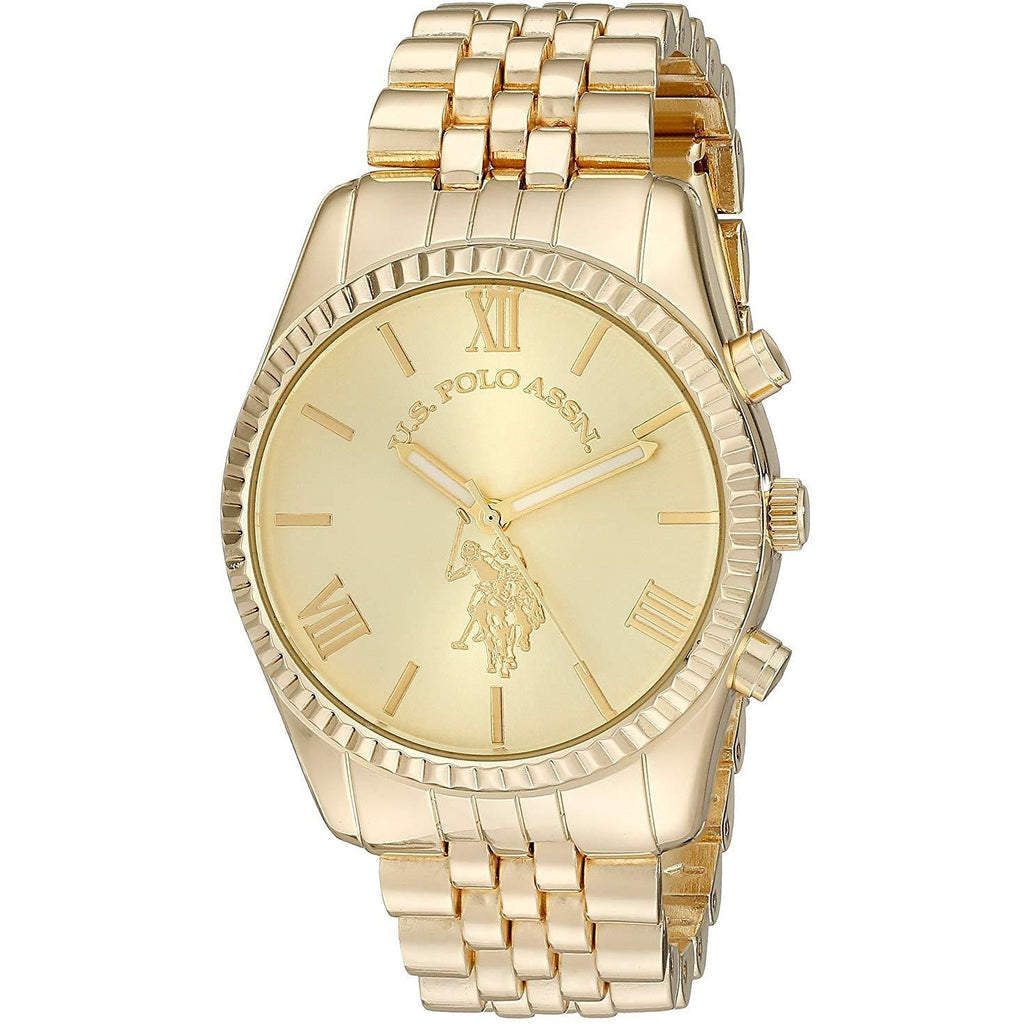 U.S. Polo Assn. Women's USC40058 Gold-Tone Watch - 3alababak