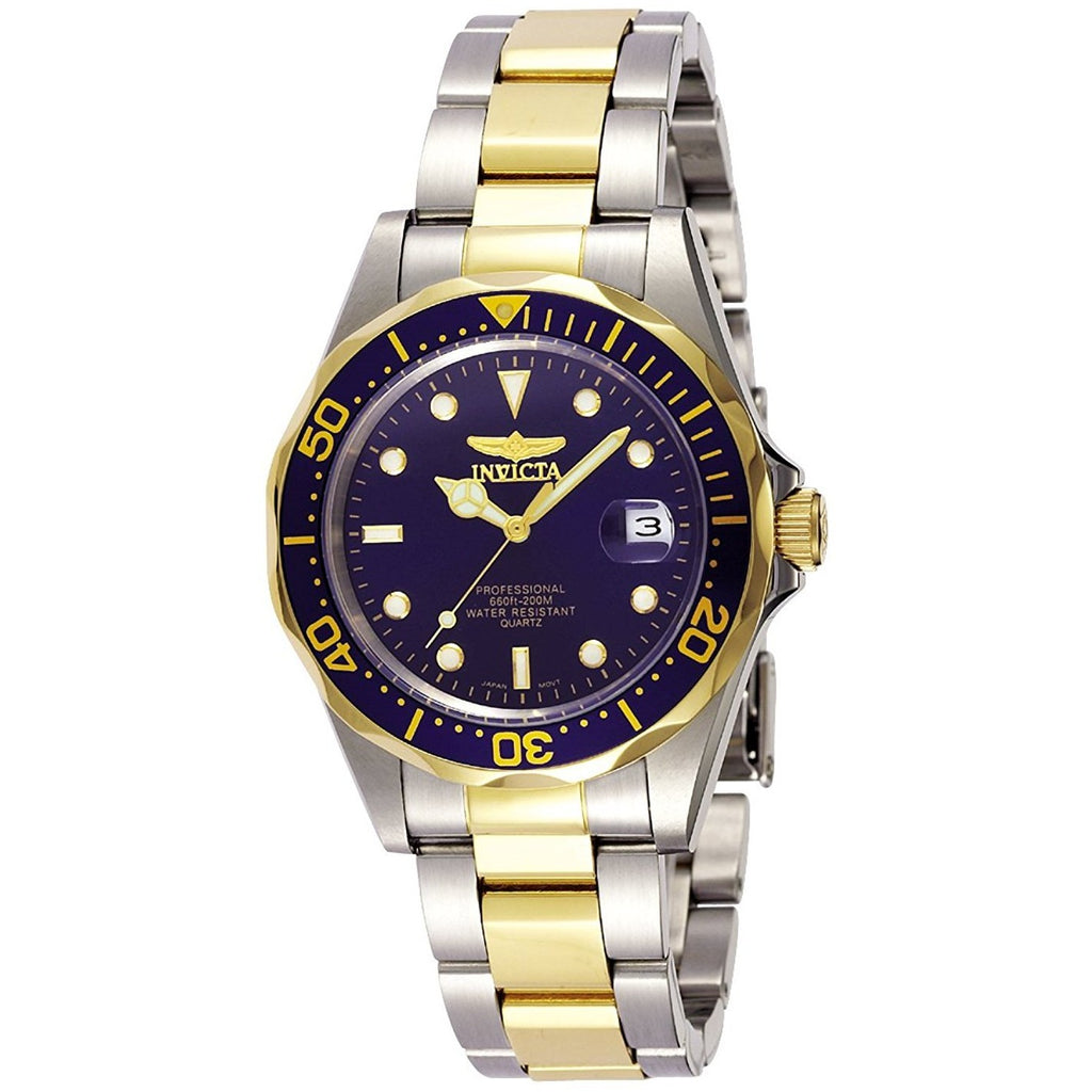 Invicta 8935 Pro Diver Collection For Men Two Tone Stainless Steel, Analog - 3alababak