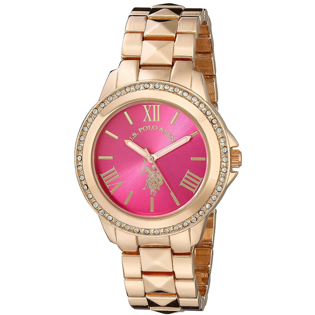 U.S. Polo Assn. Women's USC40080 Rose Gold-Tone Bracelet Watch - 3alababak