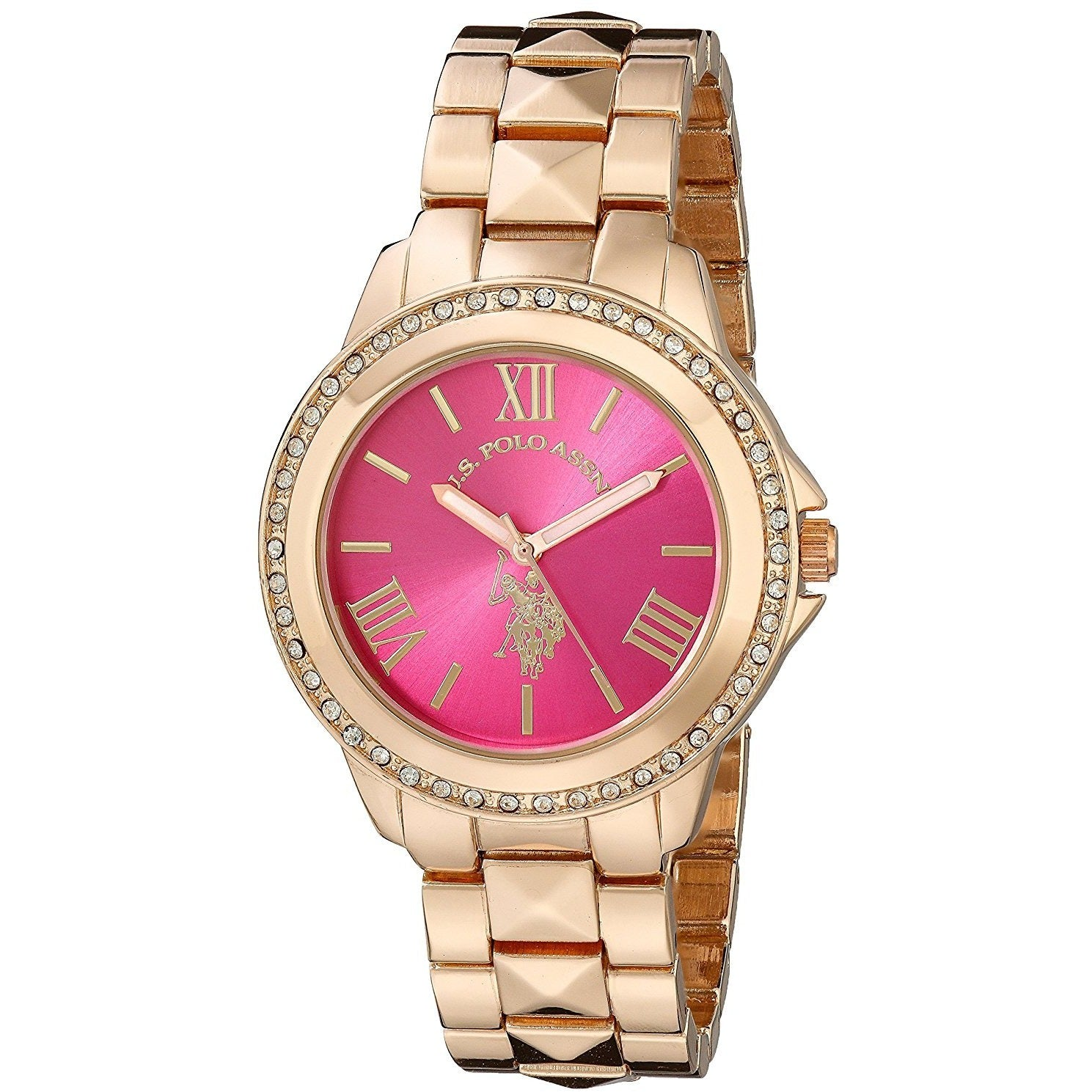 U.S. Polo Assn. Women's USC40080 Rose Gold-Tone Bracelet Watch