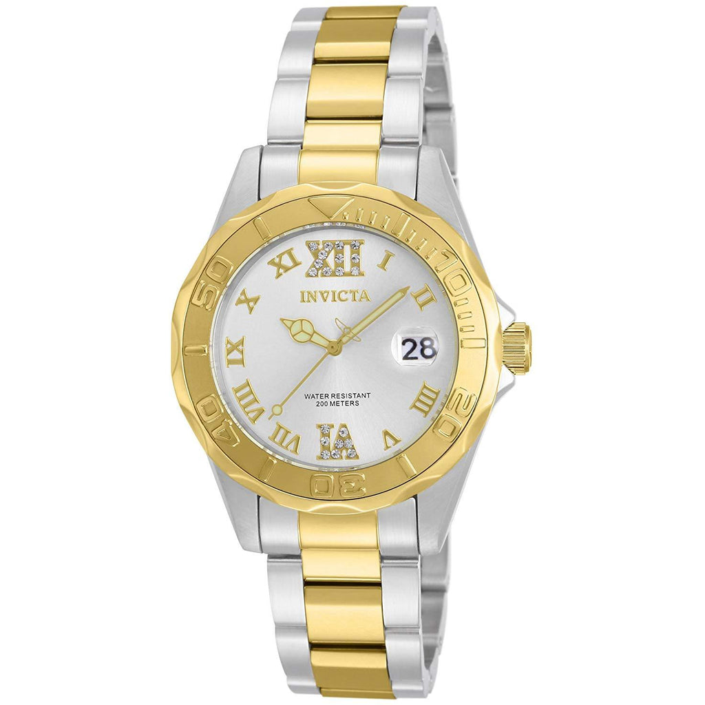 Invicta Women's 'Pro Diver' Quartz Stainless Steel Casual Watch Model 12852