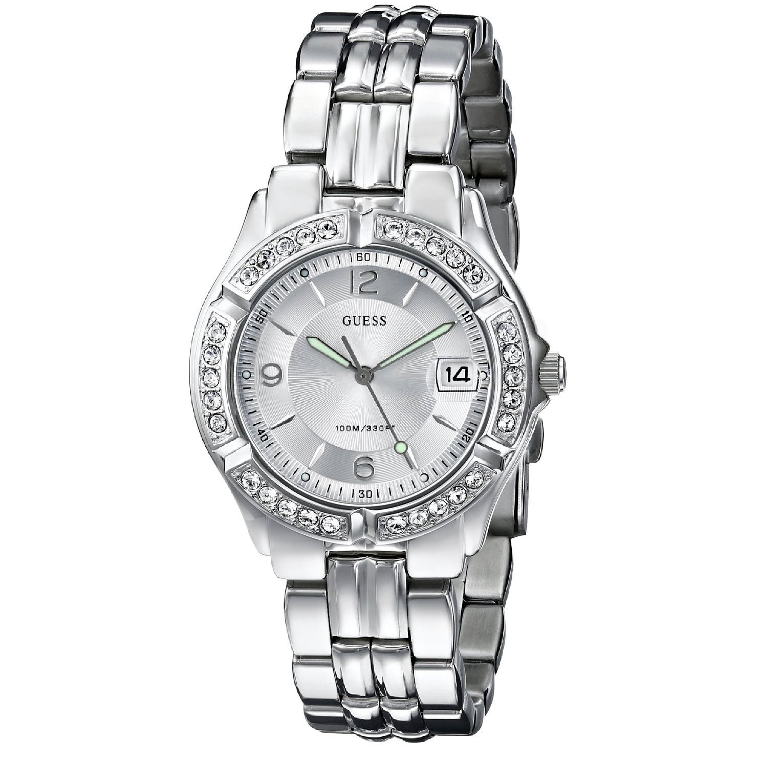GUESS Women's G75511M Stainless Steel Crystal Accented Watch