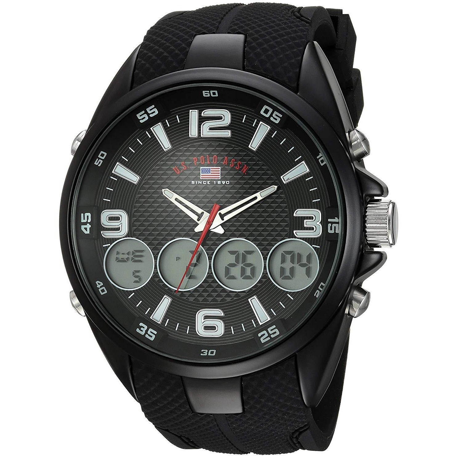 U.S. Polo Assn. Men's Quartz Metal and Rubber Casual Watch Model US9596