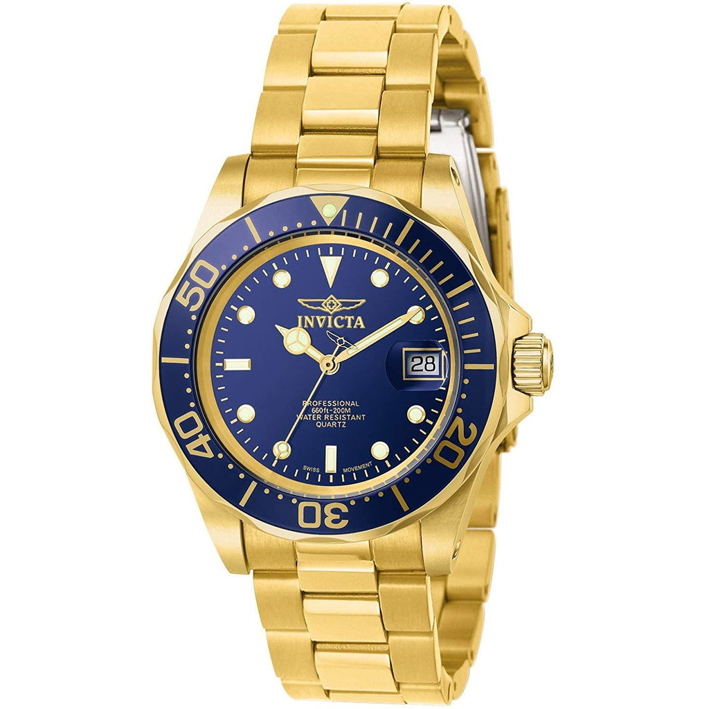 Invicta Men's 9312 Pro Diver Gold-Tone Stainless Steel Watch with Link Bracelet - 3alababak