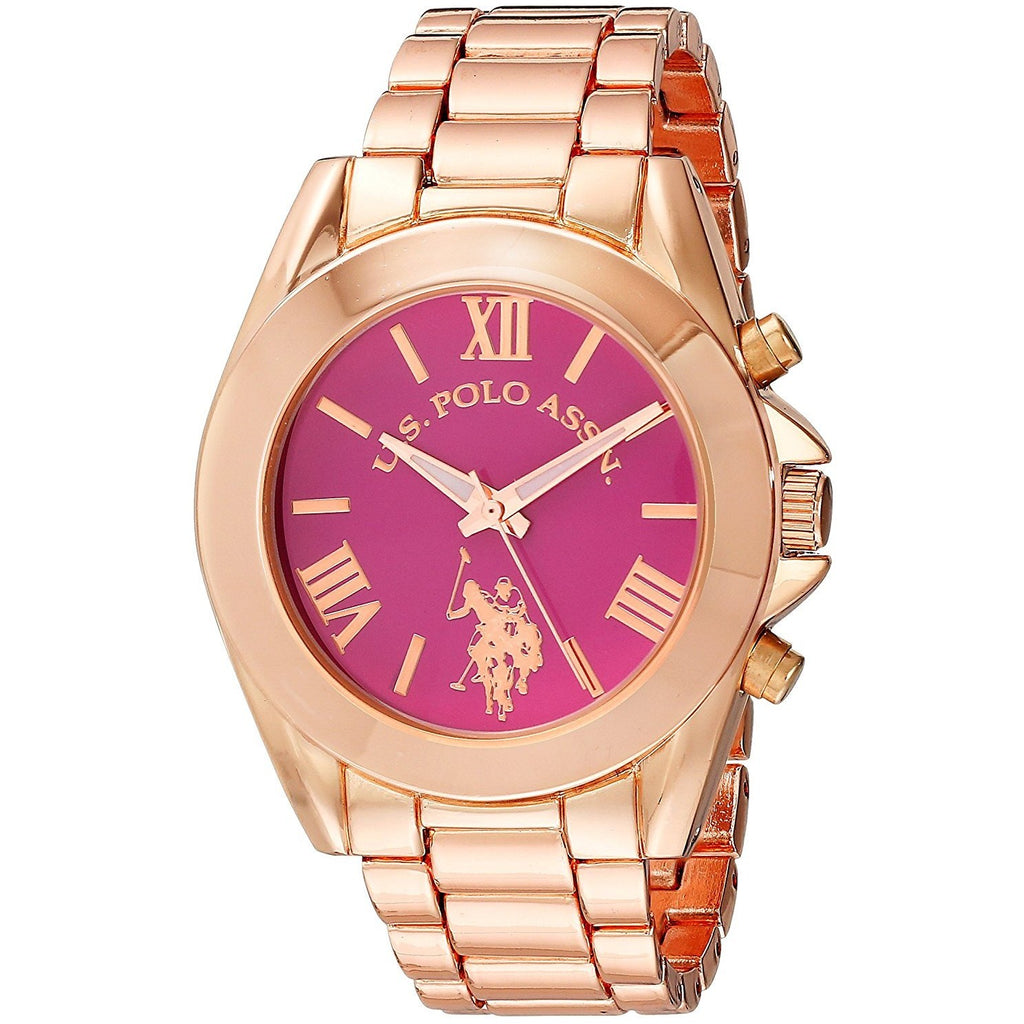 U.S. Polo Assn. Women's USC40049 Rose Gold-Tone Watch - 3alababak