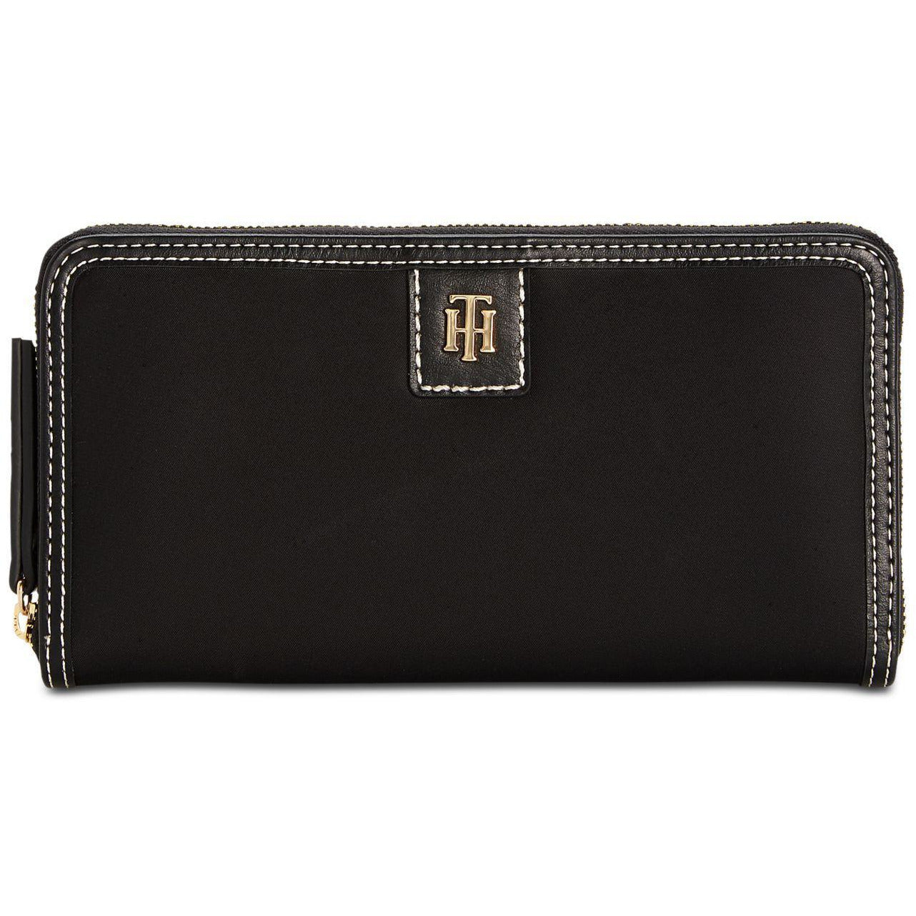 Tommy Hilfiger Julia Large Nylon Zip Black  Wallet for Women