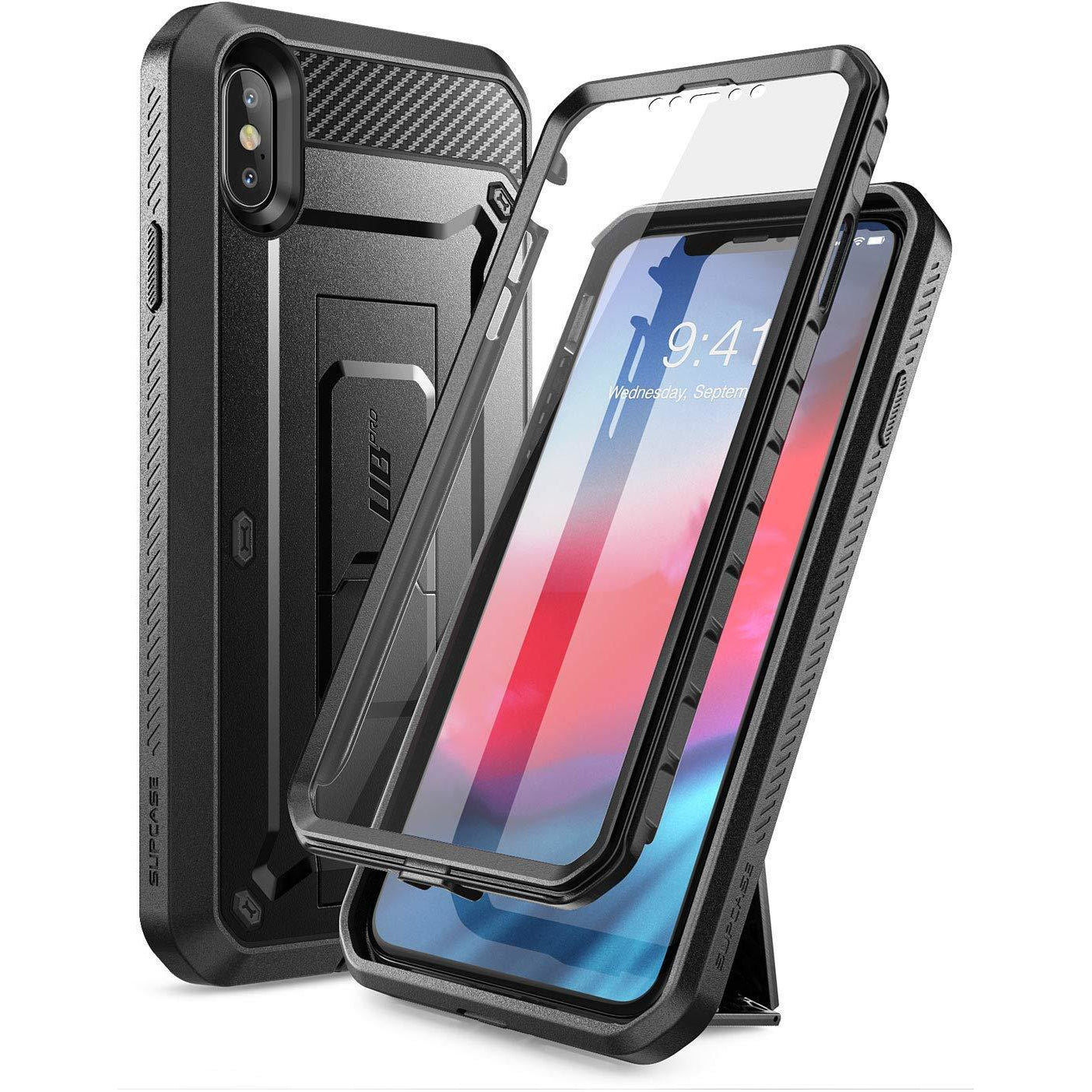 SUPCASE iPhone XS MAX Case, Full-Body Holster Cover with Built-in Screen Protector
