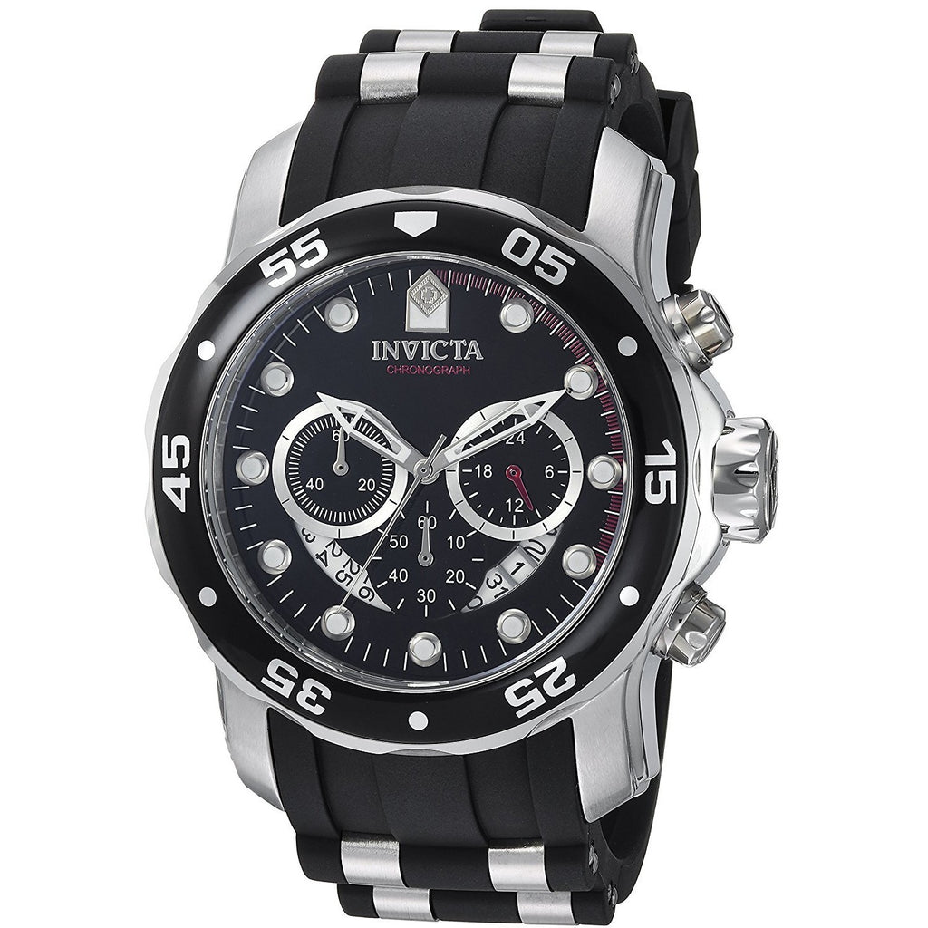 Invicta Men's 6977 Pro Diver Collection Chronograph Black Dial Black Polyurethane Watch - 3alababak
