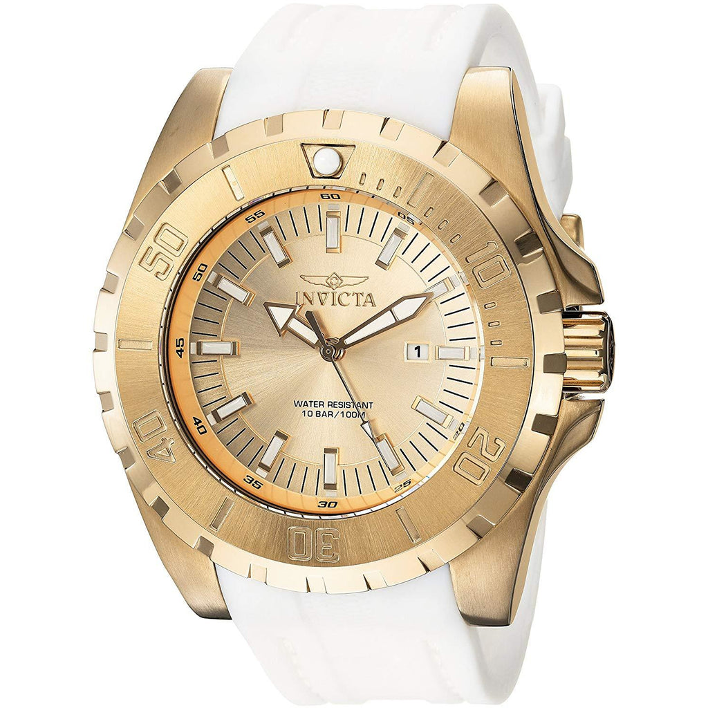 Invicta 23740 Men's 'Pro Diver' Quartz Stainless Steel and Polyurethane Casual Watch