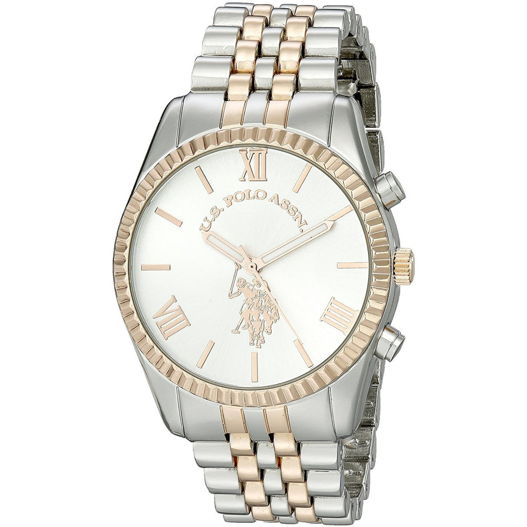 U.S. Polo Assn. Women's USC40056 Two-Tone Watch with Link Bracelet - 3alababak