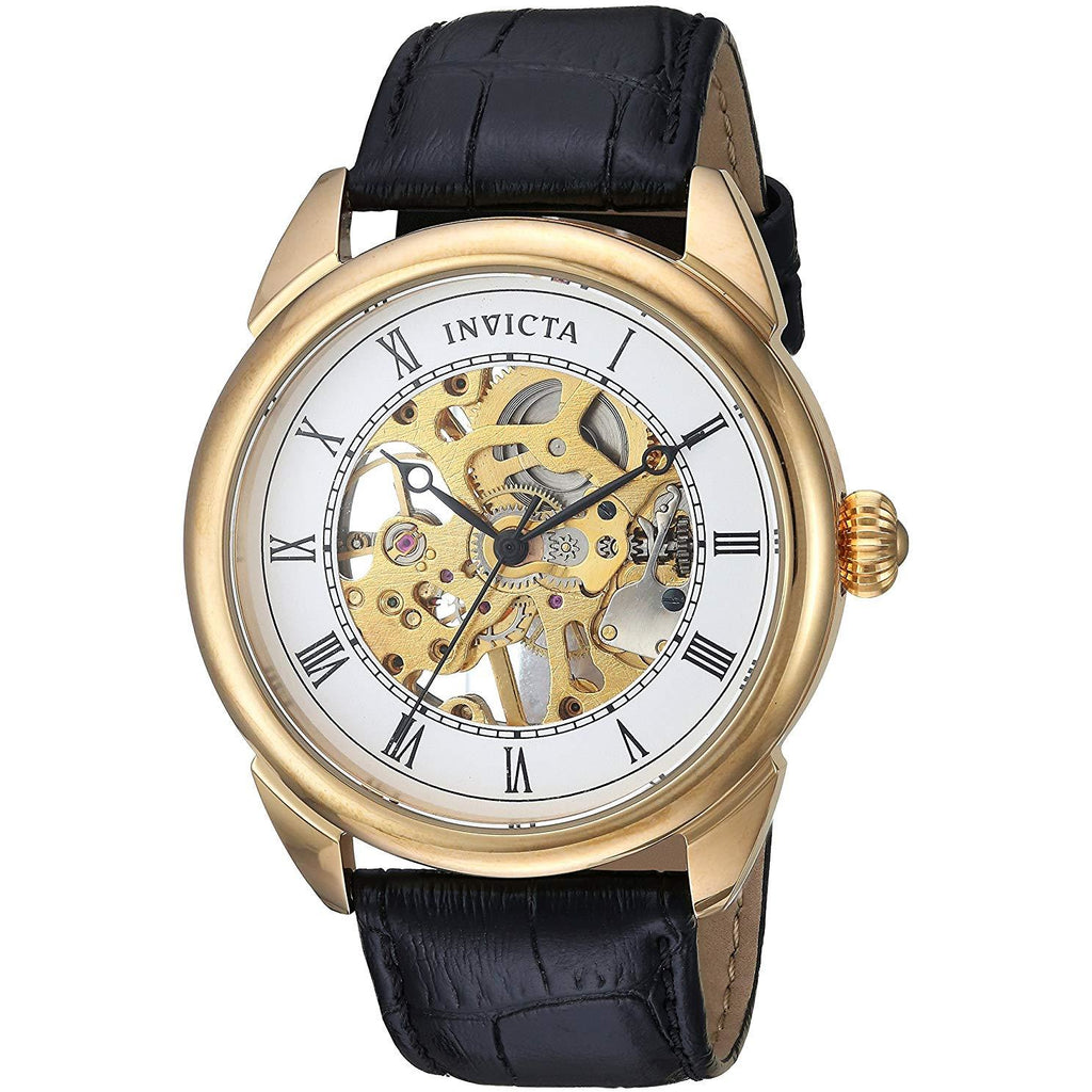 Invicta Men's 'Specialty' Mechanical Hand Wind Stainless Steel and Leather Casual Watch Model 23535