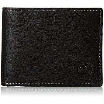 Timberland Men's Blix Slimfold Leather Wallet Black D10222/08A