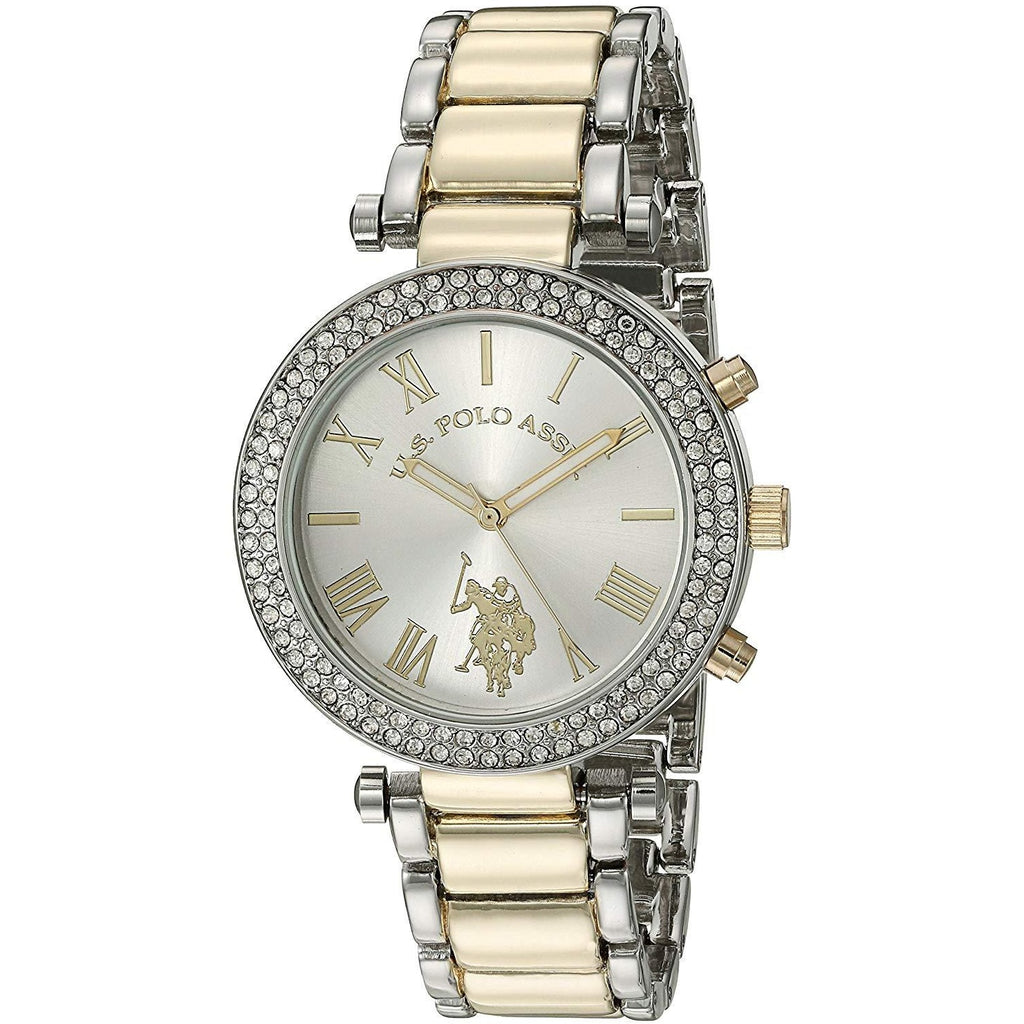 U.S. Polo Assn. Women's Quartz Two Tone Dress Watch Model USC40171 - 3alababak