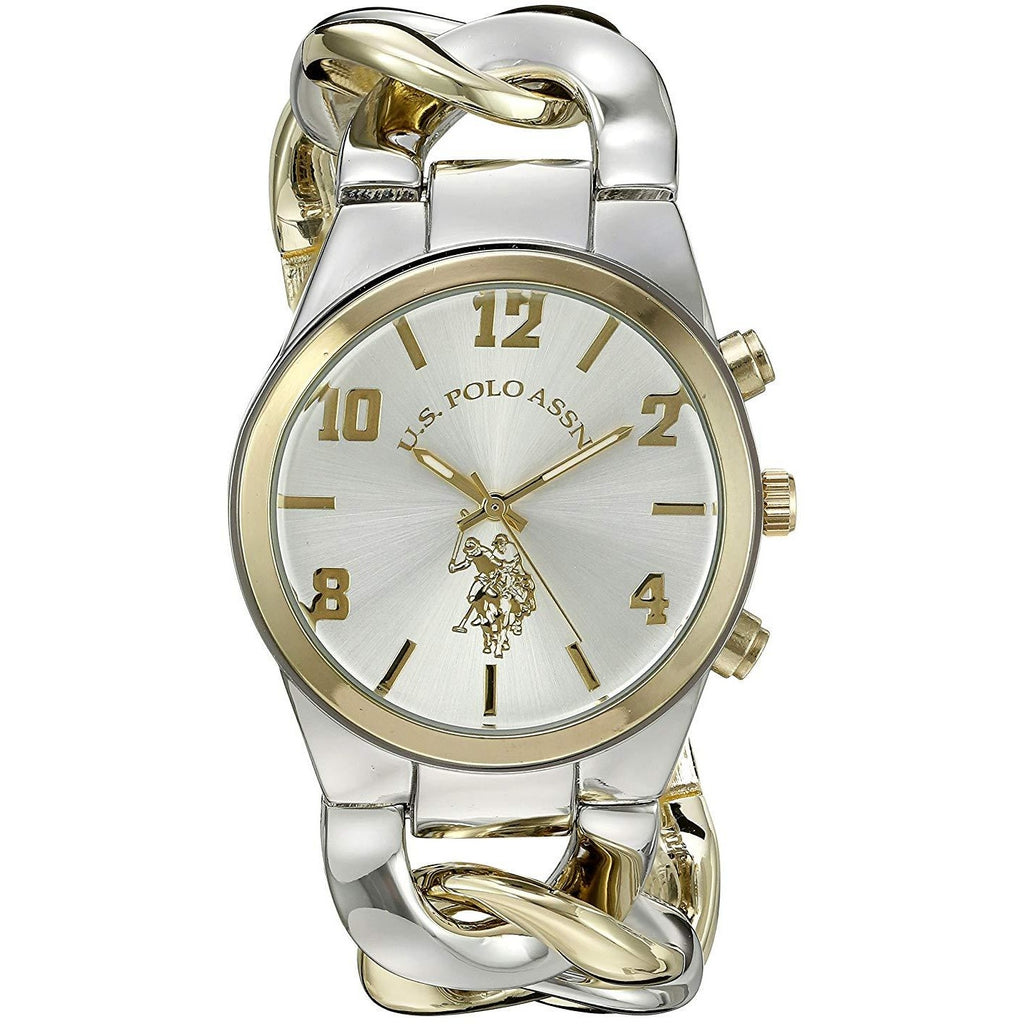 U.S. Polo Assn. Women's USC40173 Analog Display Two-Tone Watch - 3alababak