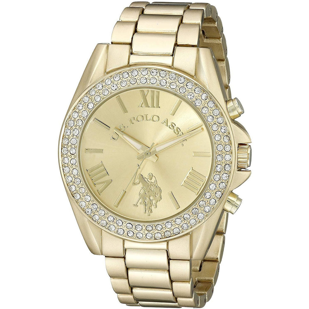U.S. Polo Assn. Women USC40036 Gold-Tone Watch - 3alababak