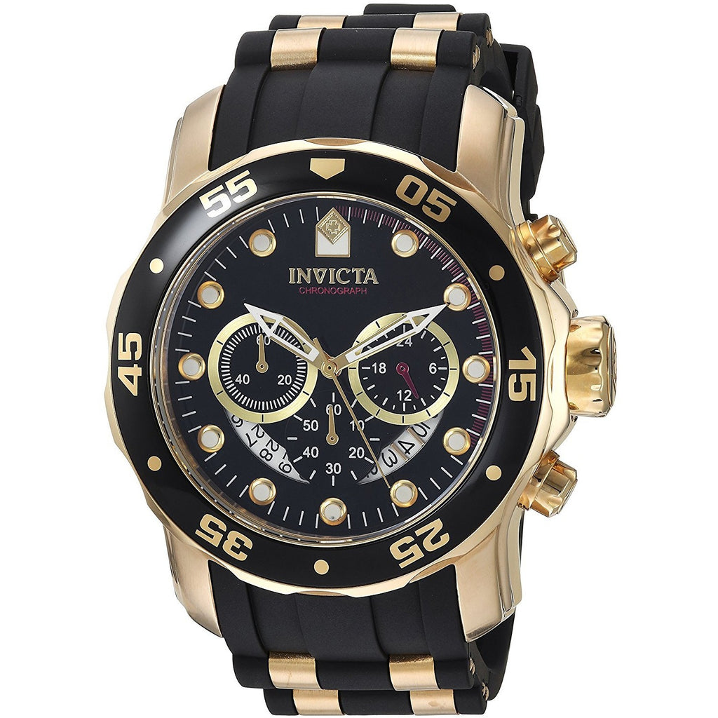 Invicta Men's 6981 Pro Diver Analog Swiss Chronograph Black Polyurethane Watch - 3alababak