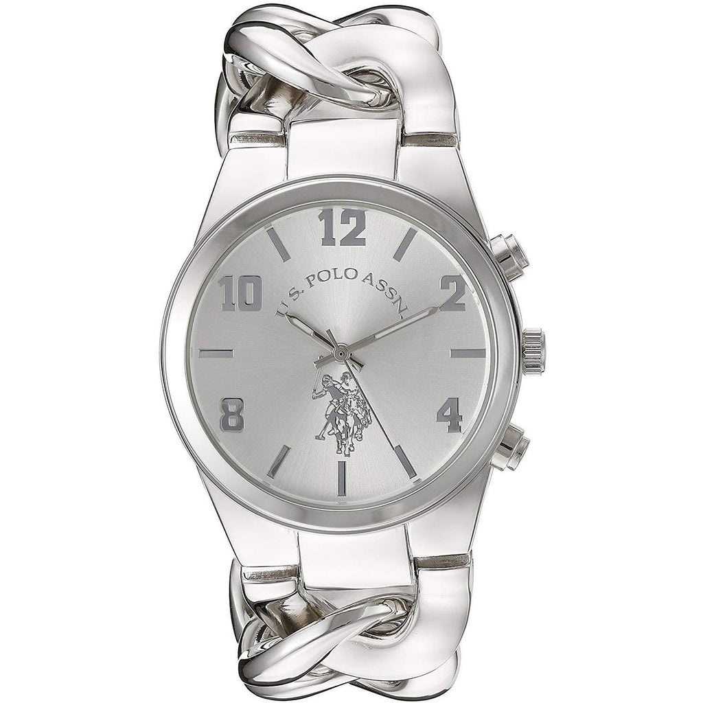 U.S. Polo Assn. Women's USC40178 Analog Display Analog Quartz Silver Watch - 3alababak