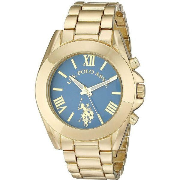 U.S. Polo Assn. Women's USC40048 Gold-Tone Bracelet Watch - 3alababak