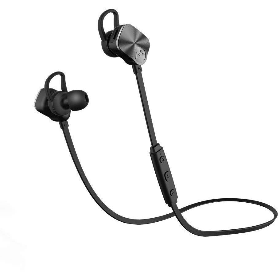 Mpow V4.1 Bluetooth Headphones Wireless Sport Earphones, Snug Fit In-ear Running Earbuds with Mic-Black - 3alababak
