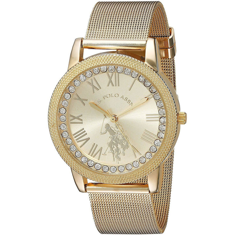 U.S. Polo Assn. Women's Quartz Metal and Alloy Casual Watch, Model  USC40110 - 3alababak