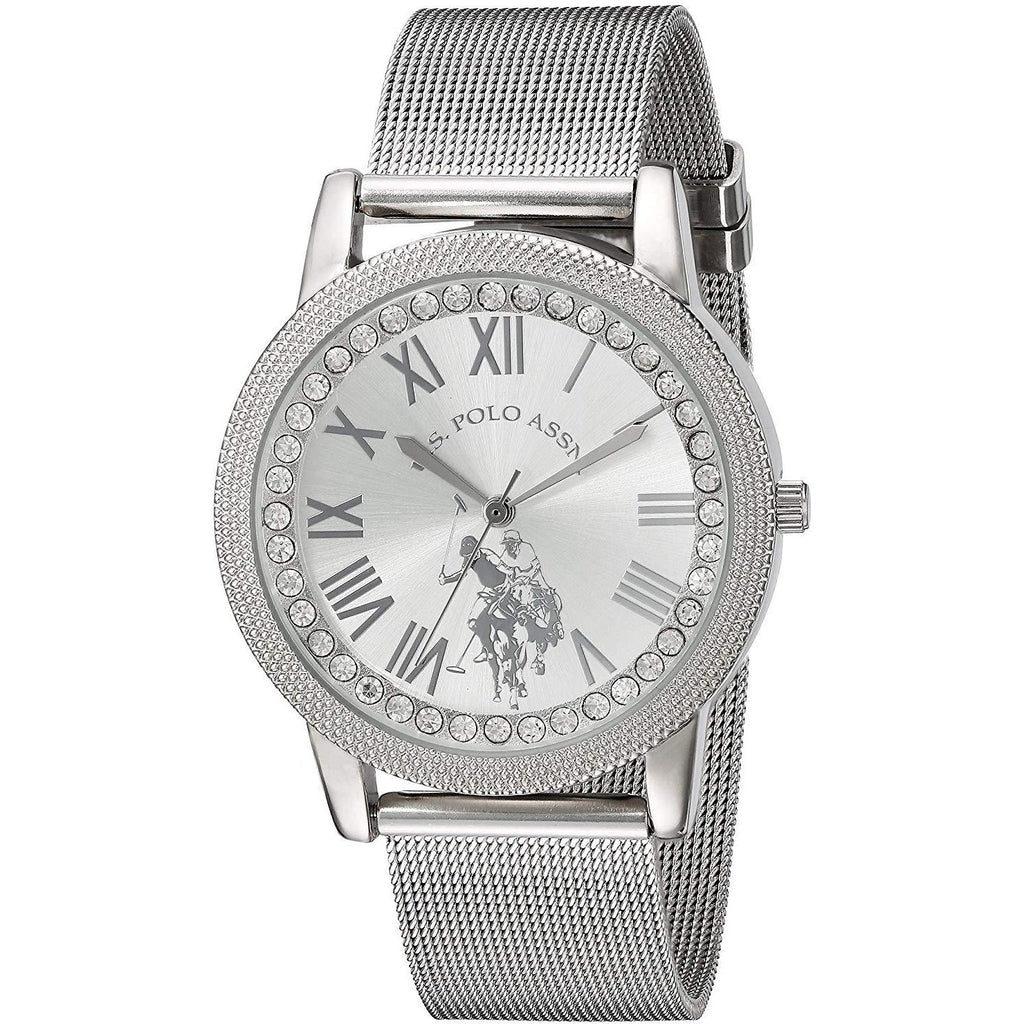 U.S. Polo Assn. Women's Quartz Metal and Alloy Casual Watch, Color:Silver­Toned (Model: USC40109) - 3alababak