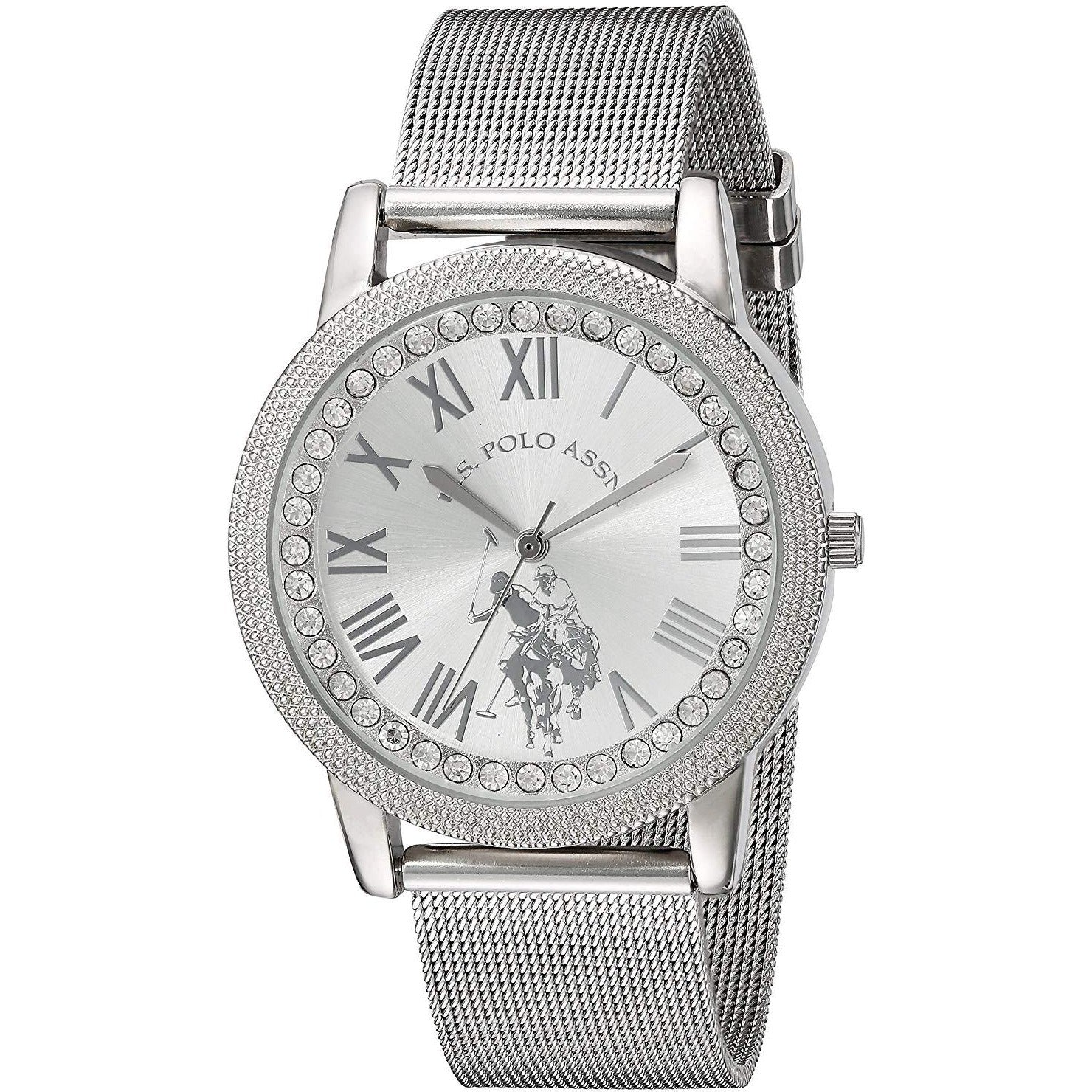 U.S. Polo Assn. USC40109 Women's Quartz Alloy Casual Watch, Silver­Toned