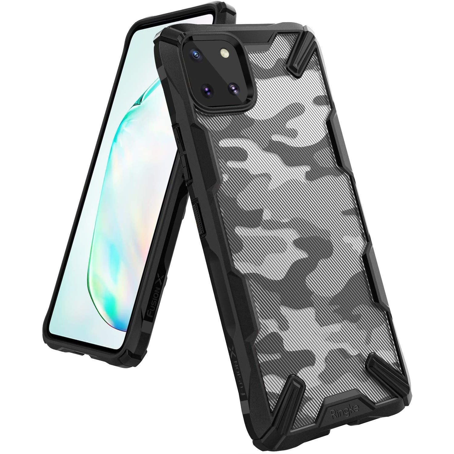 Ringke Fusion X Design Case Made for Galaxy Note 10 Lite (2020) - Camo Black