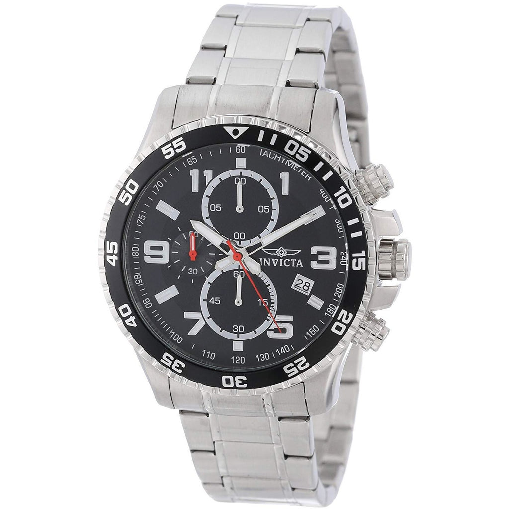 Invicta Men's 14875 Specialty Chronograph Black Textured Dial Stainless Steel Watch - 3alababak