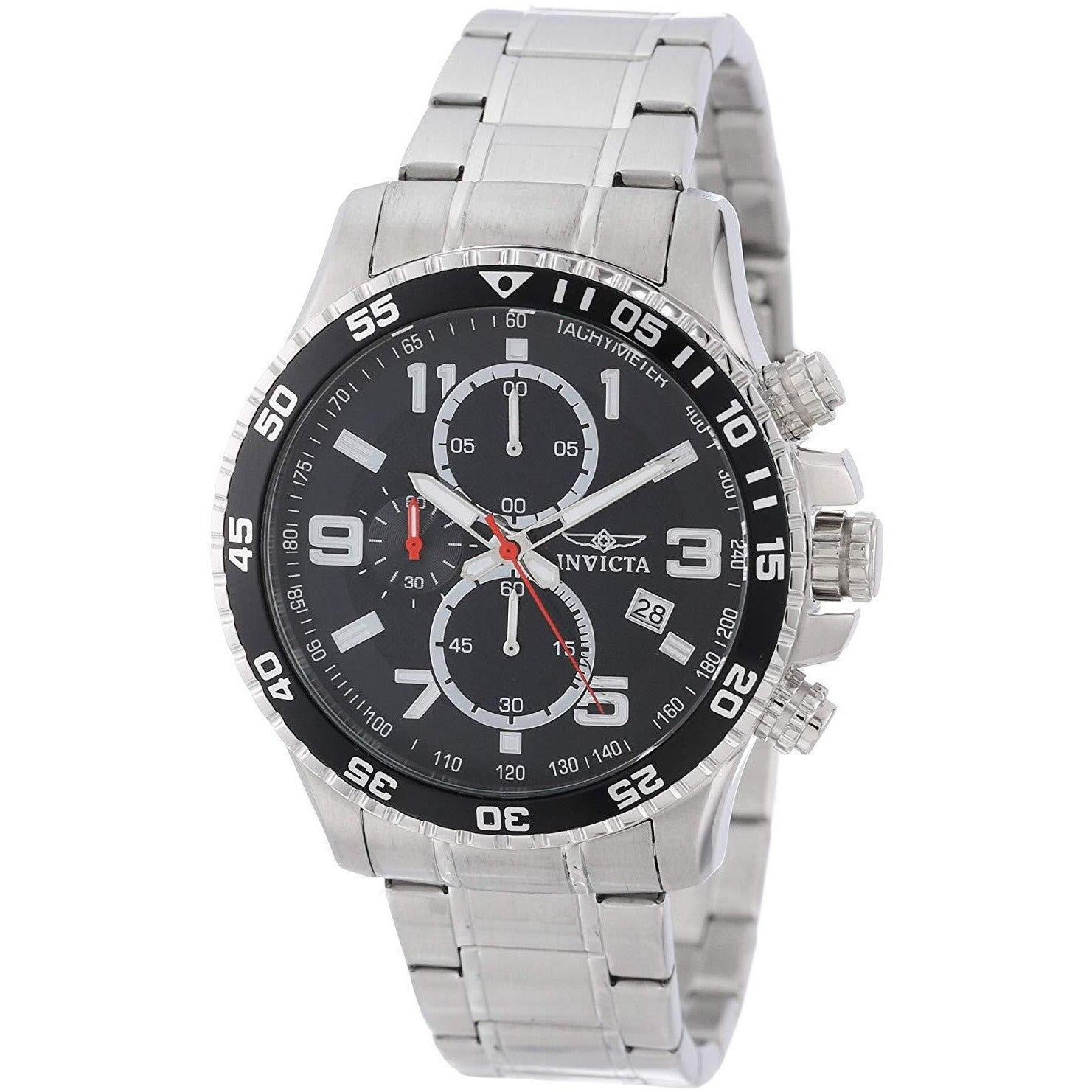 Invicta Men's 14875 Specialty Chronograph Black Textured Dial Stainless Steel Watch