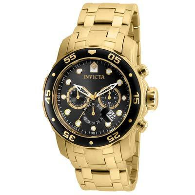 Invicta Men's 80064 Pro Diver Chronograph Charcoal Dial Stainless Steel Watch