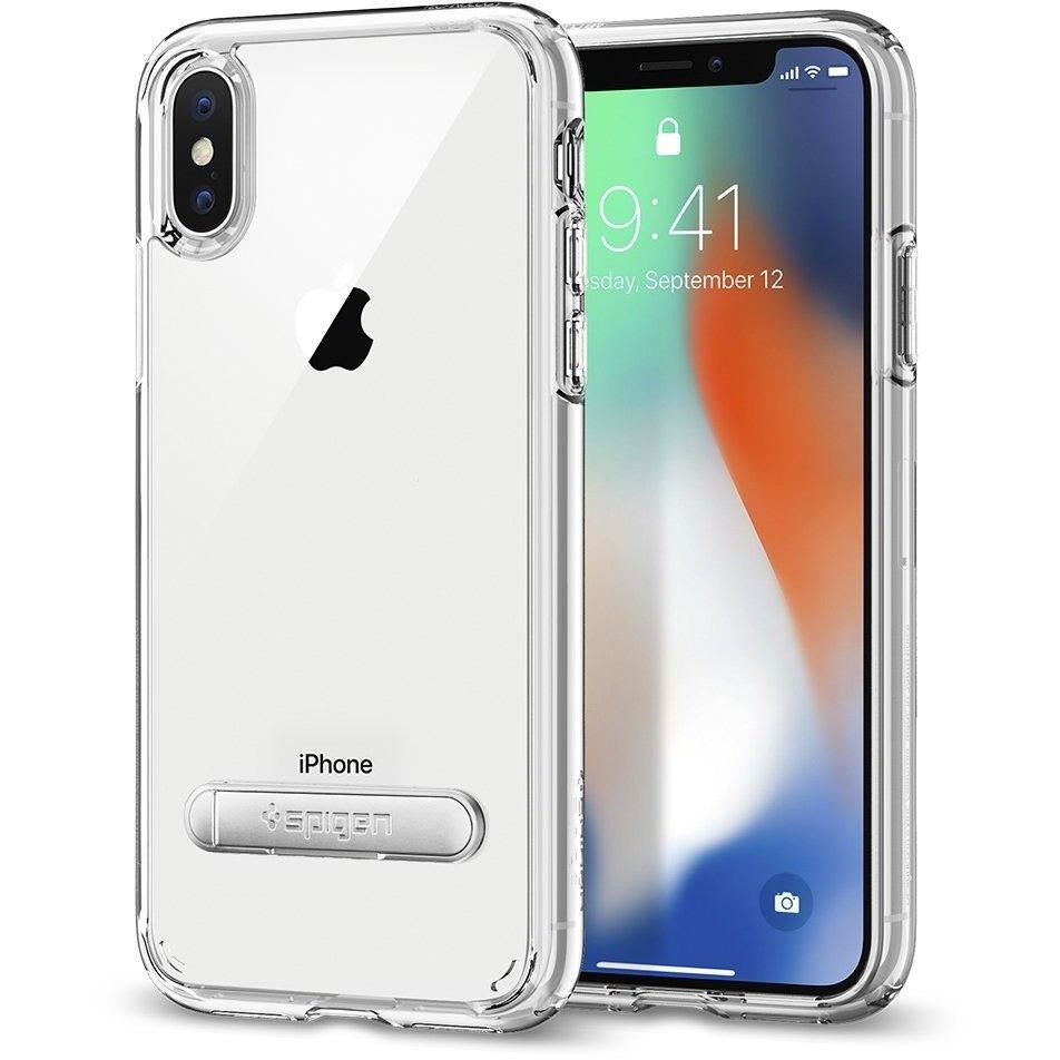 Spigen iPhone X Mobile Cover Ultra Hybrid S with Magnetic Metal Kickstand