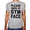 Phoenix GREY Round Neck Printed T-Shirt Men (Gym face)