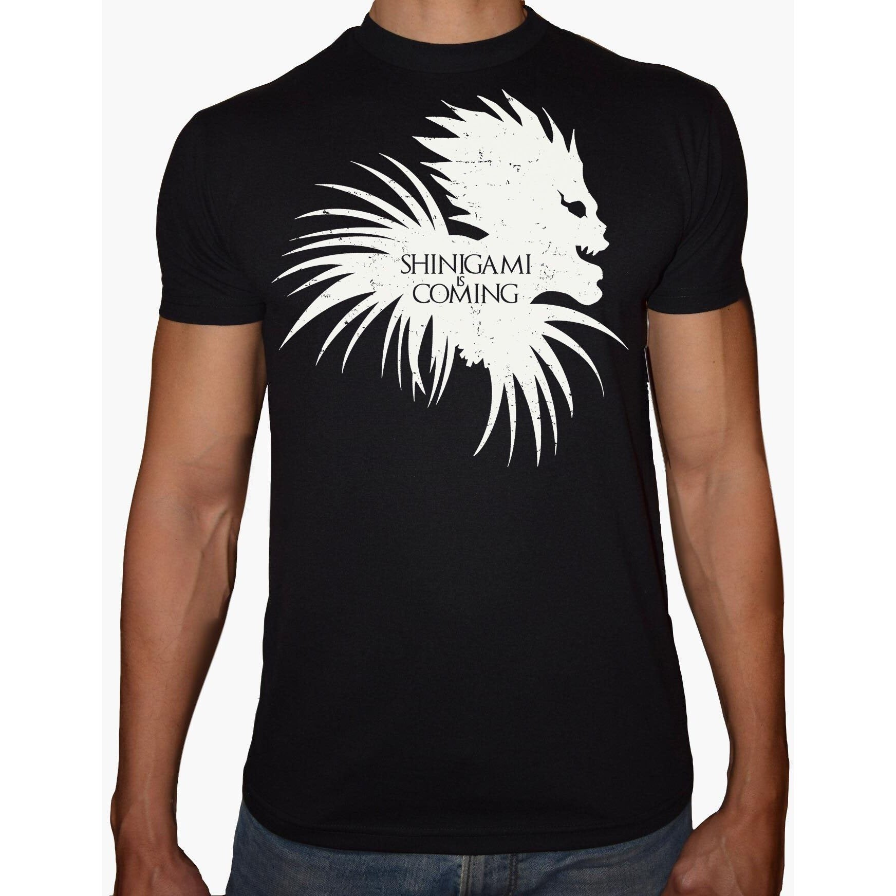 Phoenix BLACK Round Neck Printed T-Shirt Men (Death note)